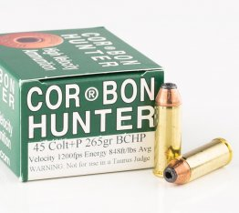 Corbon Hunter .45 Long-Colt +P Ammo - 265gr JHP 20rd box