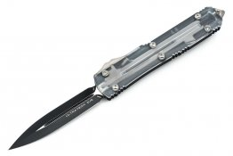 Microtech 122-1CL Ultratech D/E - Clear Top - Black Blade