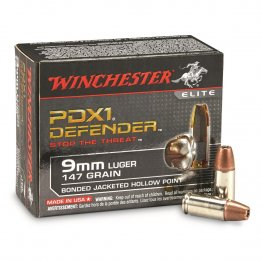 Winchester PDX1 Defender, 9mm, BJHP, 147 Grain, 20 Rounds
