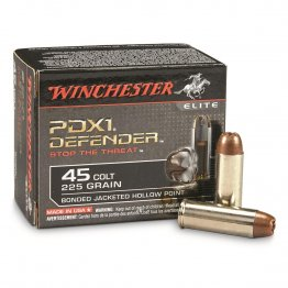 Winchester Defender, .45 Colt, Bonded Jacketed Hollow Point, 225 Grain, 20 Rounds