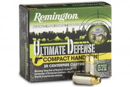 Remington 380 Auto 102 gr BJHP Ultimate Defense Compact Handgun 20/Box