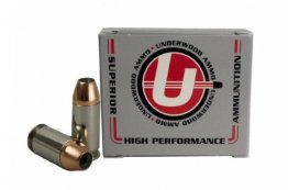 Underwood 45 ACP +P 185 Grain Jacketed Hollow Point