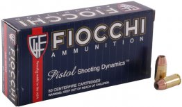 Fiocchi Shooting Dynamics Pistol Ammunition 380APHP, 380 ACP, Jacketed Hollow Point (JHP), 90 GR, 1030 fps, 50 Rd/bx