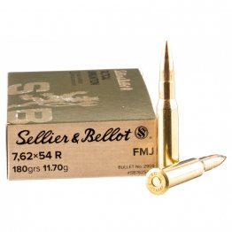 Sellier & Bellot 20 rds of 7.62x54r Ammo  - 180gr FMJ