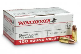 Winchester 115gr 9mm 100rd Pack