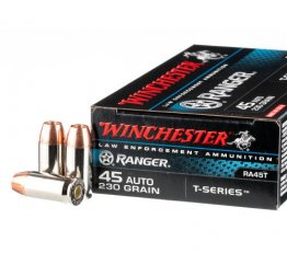 Winchester Ranger T-Series RA45T - 45 ACP 230 grain Jacketed Hollow Point in 50 round black boxes