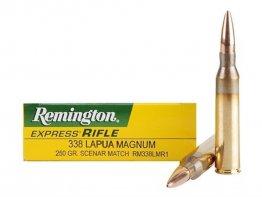 Remington .338 Lapua Magnum 250GR Scenar Match