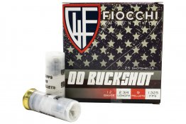 Fiocchi 12 Gauge 2-3/4 in 00 Buckshot 9 Pellet High Velocity 25/Box