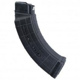 AC UNITY AK-47 QUAD STACK MAGAZINE 7.62X39 60RD POLYMER WINDOWED W/ STEEL TABS - BLACK