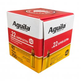 Aguila Ammunition, Rimfire, 22 LR, 40Gr, Solid Point, Hi-Velocity, 250 Rounds