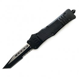 CobraTec CTK-1 Medium Part Serrated OTF Auto Tanto Knife
