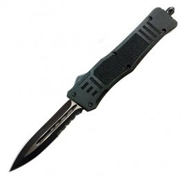 Cobratec CTK-1 OTF Dual Edge Serrated Auto Knife