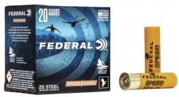 "20 Gauge - 3"" 7/8oz. #2 Steel Shot - Federal Speed-Shok - 25 Rounds"