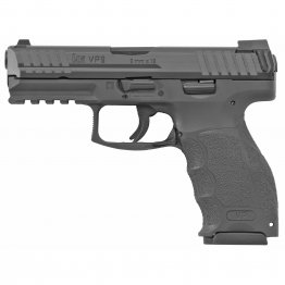 "HK, VP9, Semi-automatic, 9MM, 4.09"" Barrel, Polymer Frame, Black Finish, Night Sights, 17Rd, 3 Magazines"