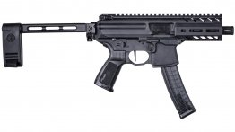 SIg Sauer MPX 9mm 4.5 Tactical Pistol Side Folding