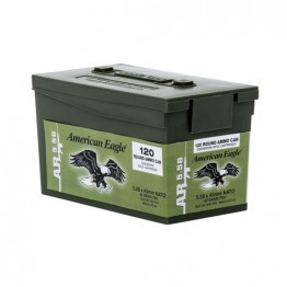 Federal  5.56 Ammo 62 Grain FMJ 120 Rounds Mini Ammo Can