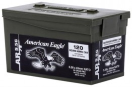 Federal 5.56 Ammo 55 Grain FMJ 120 Rounds Mini Ammo Can