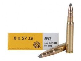 Sellier & Bellot Ammunition 8x57mm JS Mauser (8mm Mauser) 196 Grain Soft Point