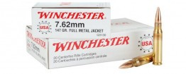 Winchester Ammunition 7.62x51mm NATO 147 Grain Full Metal Jacket 20rd box