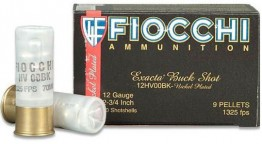"Fiocchi 12 Gauge Exacta 2-3/4"" 00 Buck, Nickel Plated"