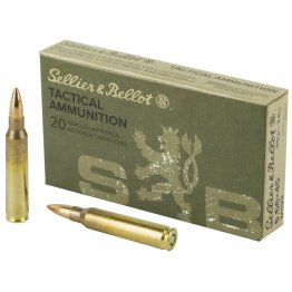 Sellier & Bellot, Rifle, 556 NATO, 55Gr, Full Metal Jacket, 20 Round Box