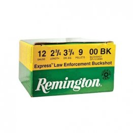 "Remington 12-Gauge Shotgun Ammo 2-3/4"" 00 Buckshot 9 Pellet"