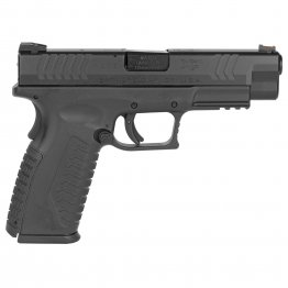 "Springfield, XDM, Full Size Pistol, 10MM, 4.5"" Barrel, Polymer Frame, Black Finish, Fiber Optic Front and Low Profile Combat Rear Sights, 15Rd, 2 Magazines"