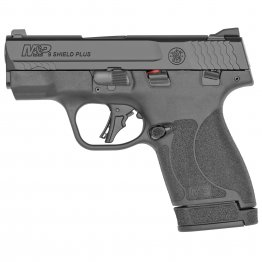 "Smith & Wesson, Shield Plus, Striker Fired, Micro-Compact, 9MM, 3.1"" Barrel,Thumb Safety, Flat Face Trigger, 2 Mags, 1-10Rd 1-13Rd, Black"