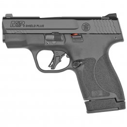 "Smith & Wesson, Shield Plus, Striker Fired, Micro Compact, 9MM, 3.1"" Barrel, No Thumb Safety, Flat Face Trigger, 2 Mags, 1-10Rd 1-13Rd, Black"