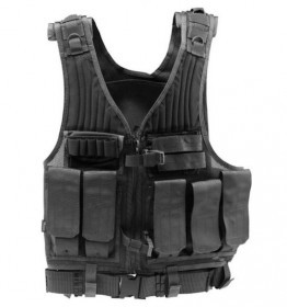 Tactical Vest Chest Rig Woodland Camo