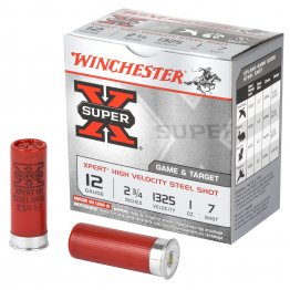 "Winchester Ammunition, Xpert, 12 Gauge, 2.75"", #7, 1oz, Steel Shot, Lead Free, 25 Round Box"