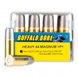 Buffalo Bore 44 Mag - +P+ 340 Grain Hard Cast LFN - - 20 Rounds