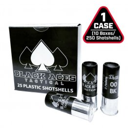 Black Aces Tactical 12ga Buckshot 2.75 inch Shotgun Shells - 9 pellets | 00 Buck | 1425 fps 250rd Case