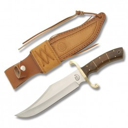Colt® Damascus Bowie with Stacked Wood Handle