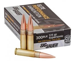 Sig Sauer 300BLK, 125GR, ELITE MATCH GRADE, Supersonic 20rd box