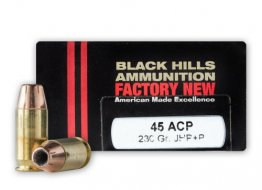 Black Hills .45 ACP - +P 230 Grain Jacketed Hollow Point – 20 Rounds