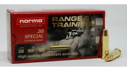Norma Range Training FMJ .38 Special 158 Grain Full Metal Jacket Brass