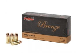 PMC Bronze 9mm Luger 115 Grain JHP Hollow Point