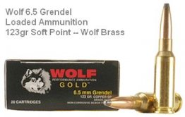 Wolf Gold 6.5 Grendel 123gr Soft Point 20rd