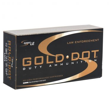 Speer Gold Dot LE Duty 40 S&W Ammo 165 Grain FBI Load JHP 50rd boxes