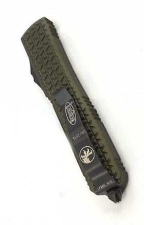 Microtech Ultratech TRI-GRIP OD Green DE Part Serrated Black 122-2OD