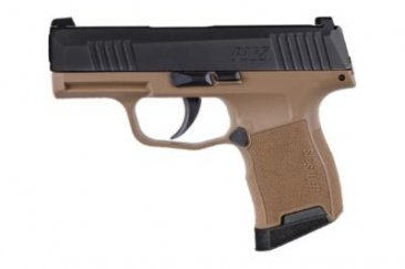 "SIG SAUER P365 9MM 3.1"" BLK/FDE 10+1 X-RAY SIGHTS"