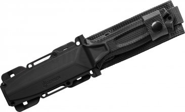"Gerber StrongArm Fixed 4.8"" Black Combo Blade, Black"