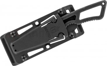 "Gerber 30-001005 Ghostrike Fixed 3.3"" Black Blade, Rubberized Handles"