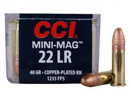 CCI Mini-Mag High Velocity Ammunition 22 Long Rifle 40 Grain 100rd