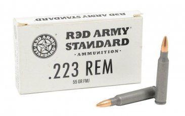 Red Army Standard 223 Remington Ammo 55 Grain FMJ Steel