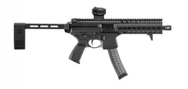 "SIg Sauer MPX 9mm 8"" Tactical Pistol Side Folding Romeo Black"